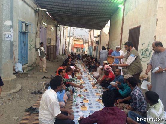""""""" فريق تطوعي """" لإفطار الصائم بمركز قنا"""